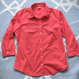 J.Crew / Pink Button Down / Large